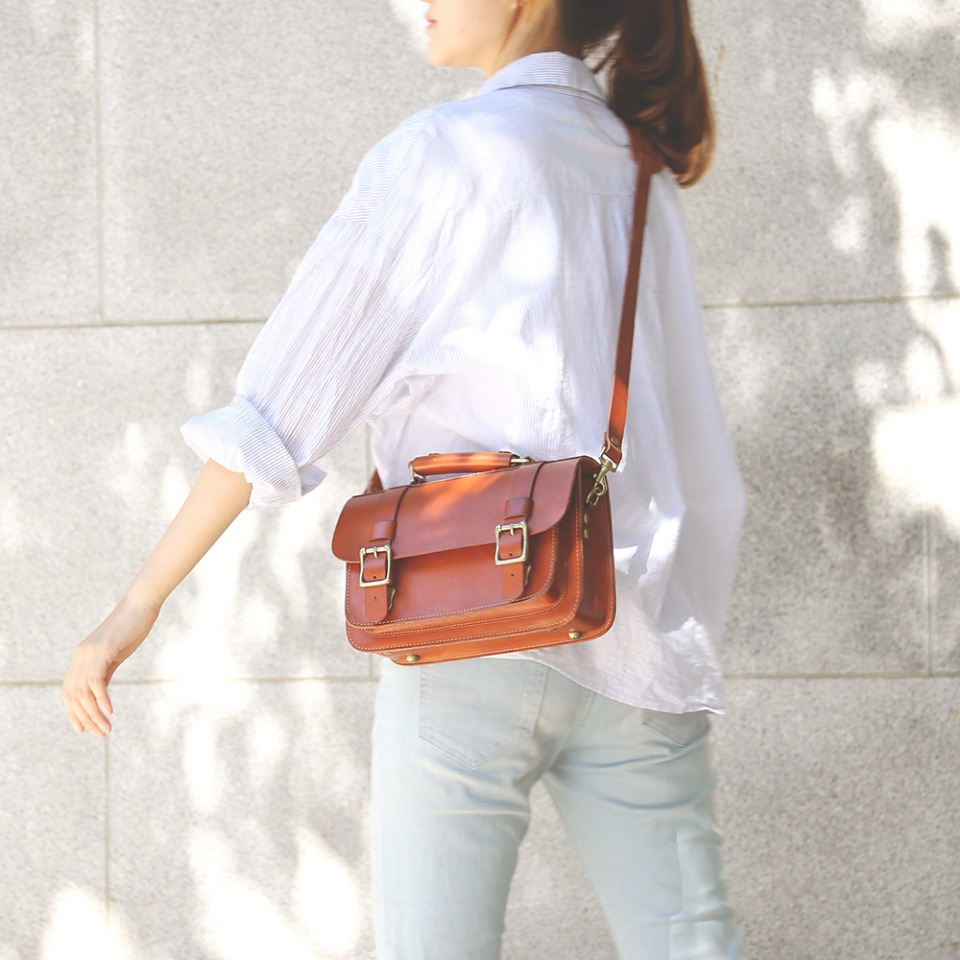 가죽공방 헤비츠 : Hevitz 102 mini satchel promenade